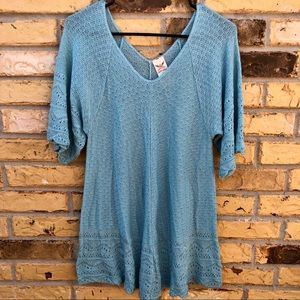 Faded Glory Short Sleeve Knit Blouse M